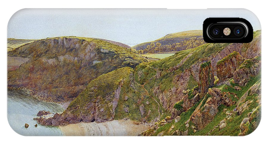 Anstey IPhone X Case featuring the painting Antsey's Cove South Devon by George Price Boyce