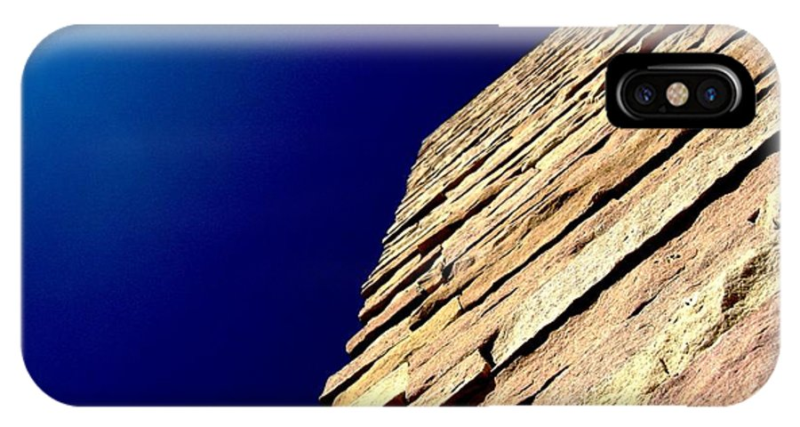 Brick Sky Sunlight Rock Tower Pyramid Wall Castle IPhone X / XS Case featuring the photograph Apex by Iris-Aperture Witness