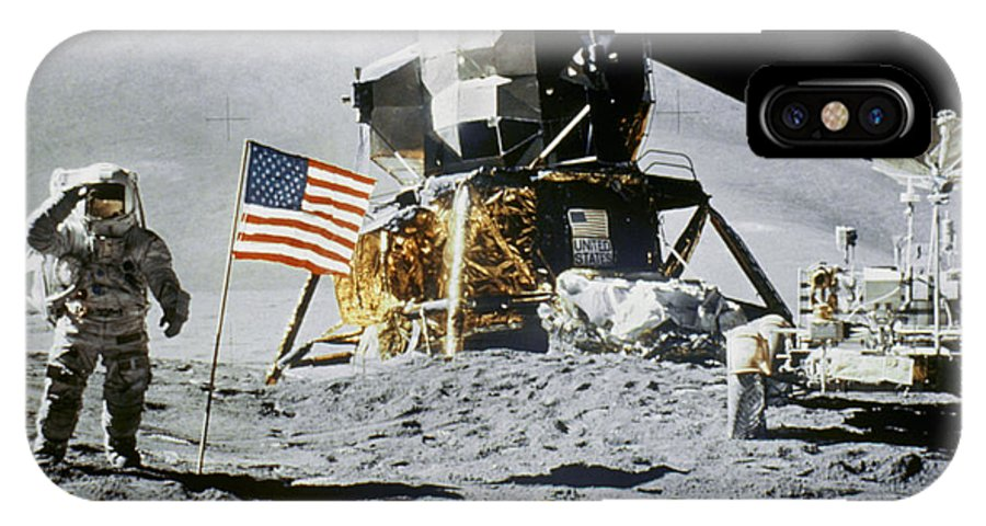 1971 IPhone X Case featuring the photograph Apollo 15: Jim Irwin, 1971 by Granger