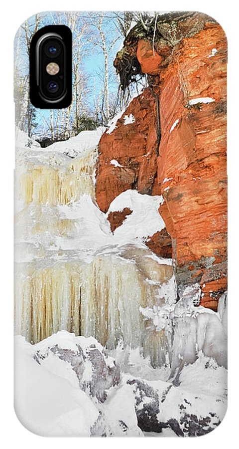 Apostle Islands National Lakeshore IPhone X Case featuring the photograph Apostle Islands National Lakeshore Waterfall Portrait by Kyle Hanson
