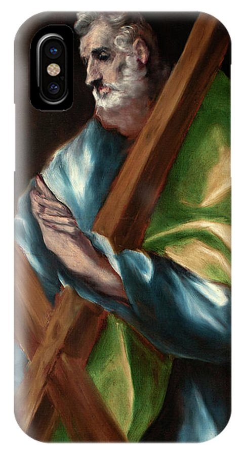 Andrew IPhone X Case featuring the painting Apostle Saint Andrew by El Greco