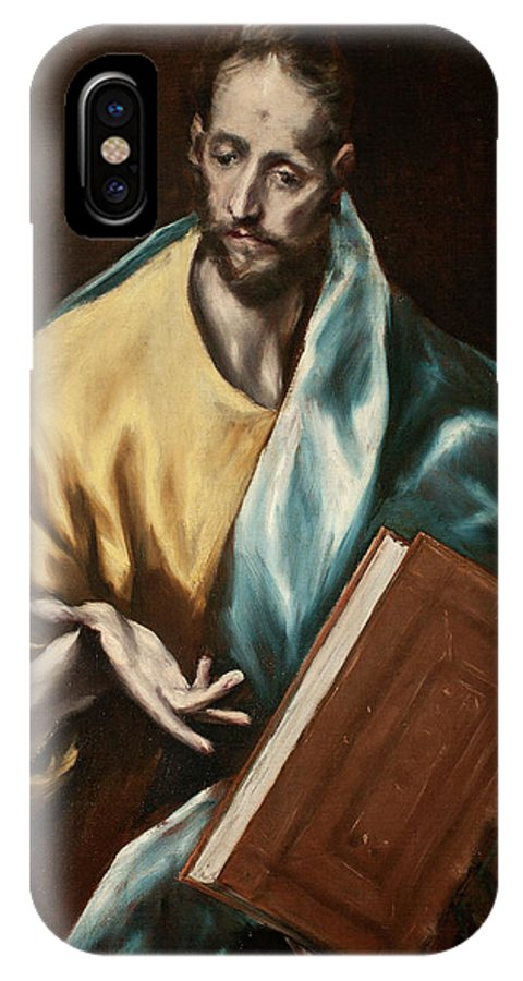 Apostle IPhone X Case featuring the painting Apostle Saint James The Less by El Greco