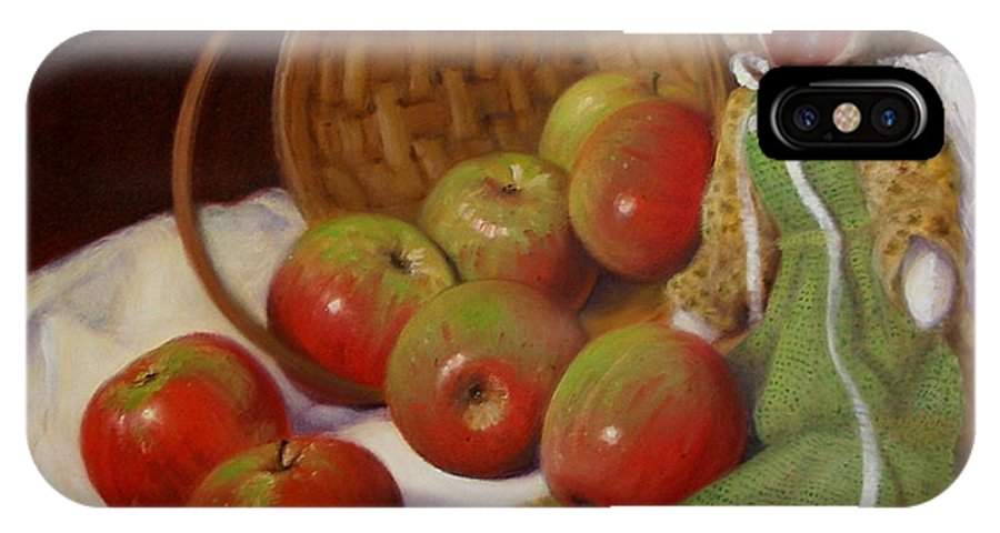 Realism IPhone X Case featuring the painting Apple Annie by Donelli DiMaria