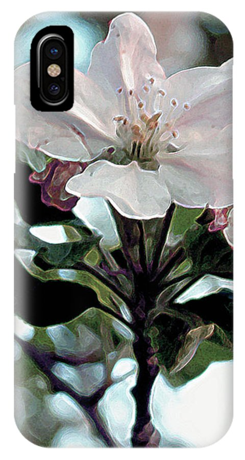 Flowers IPhone X Case featuring the painting Apple Blossom Time by RC DeWinter