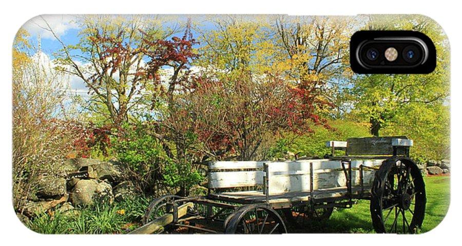 Farm IPhone X Case featuring the photograph Apple Farm Cart by John Burk