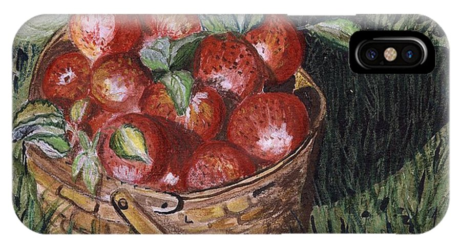 Apples IPhone X Case featuring the painting Apples by Arlene Wright-Correll
