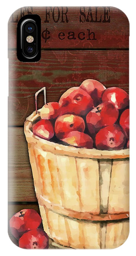 Apple IPhone X Case featuring the digital art Apples For Sale by Arline Wagner