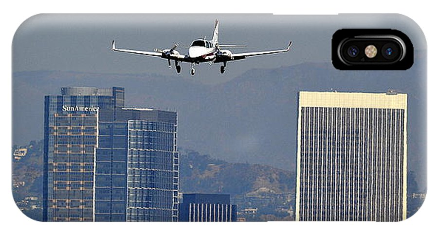 Twin Baron IPhone X Case featuring the photograph Approaching by Fraida Gutovich