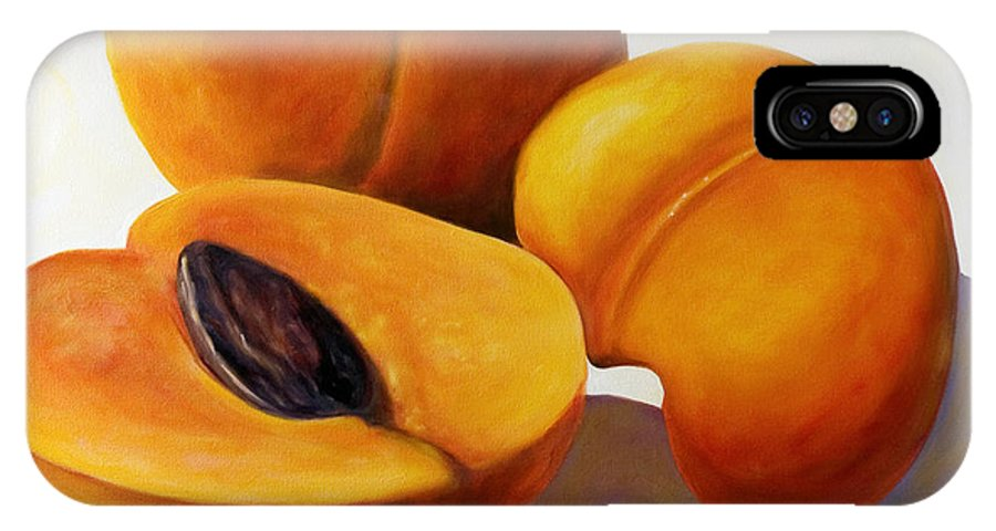Apricots IPhone X Case featuring the painting Apricots by Shannon Grissom