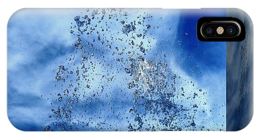 Water IPhone X Case featuring the photograph Aqua Art Cube by Carlos Amaro