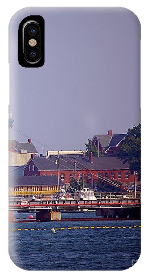 Aqua IPhone X Case featuring the photograph Aqua in Dock by Faith Harron Boudreau