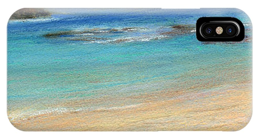 Coastal Decor IPhone X Case featuring the painting Aqua Moloa'a by Kenneth Grzesik