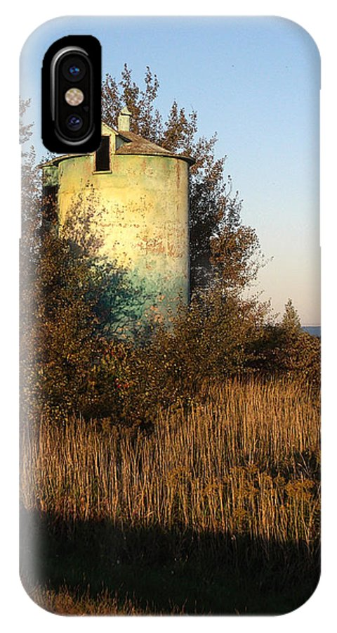 Silo IPhone Case featuring the photograph Aqua Silo by Tim Nyberg