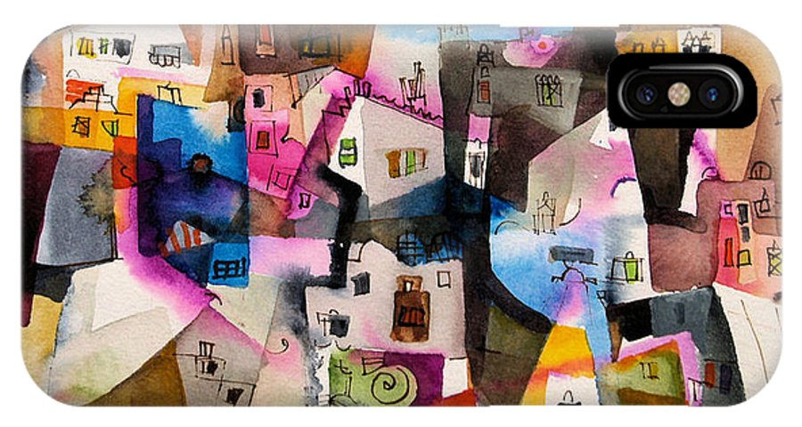 Landscape IPhone Case featuring the painting Aquarel No13 by Miljenko Bengez