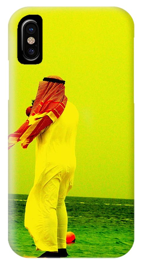 Sea IPhone X Case featuring the photograph Arab Blown By The Wind by Funkpix Photo Hunter