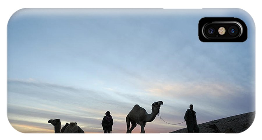 Middle East IPhone X Case featuring the photograph Arabian Camel At Sunset by PhotoStock-Israel
