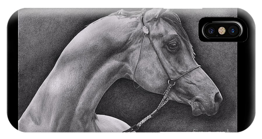 Horse IPhone Case featuring the drawing Arabian by Karen Townsend