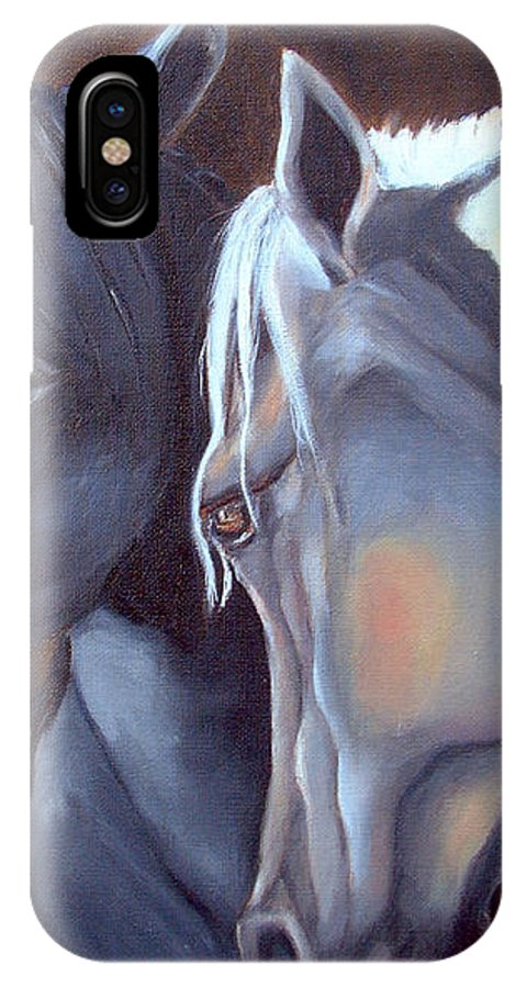 Equestrian Art IPhone X Case featuring the painting Arabique by Portraits By NC