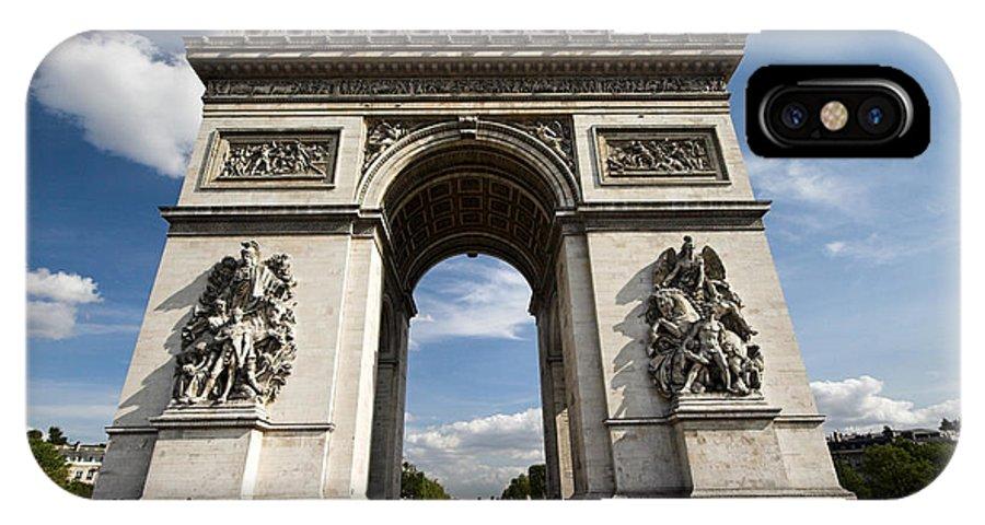 Arc IPhone X Case featuring the photograph Arc The Triomphe Paris by Pierre Leclerc Photography