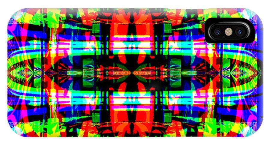 Digital IPhone X Case featuring the digital art Arca by Blind Ape Art