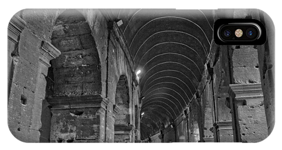 Roma IPhone X Case featuring the photograph Arcades Of Coliseum by Nick Difi