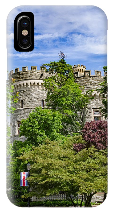 Beaver IPhone X Case featuring the photograph Arcadia University Castle - Glenside Pennsylvania by Bill Cannon