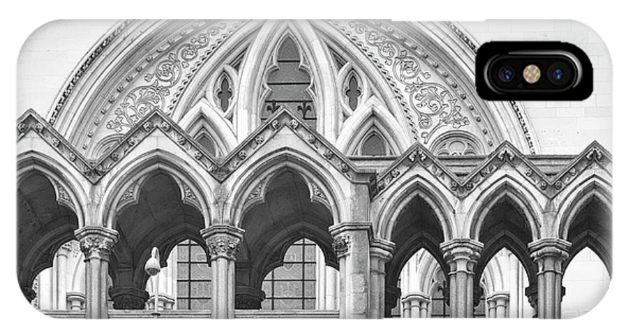 London IPhone X Case featuring the photograph Arches Over The Court by Shirley Mitchell