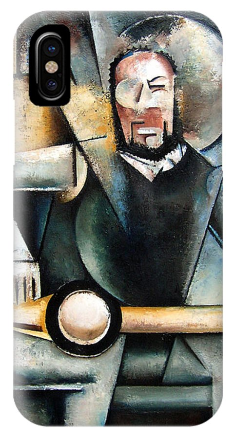 Ornette Coleman Jazz Saxophonist Cubism IPhone X Case featuring the painting Architect by Martel Chapman