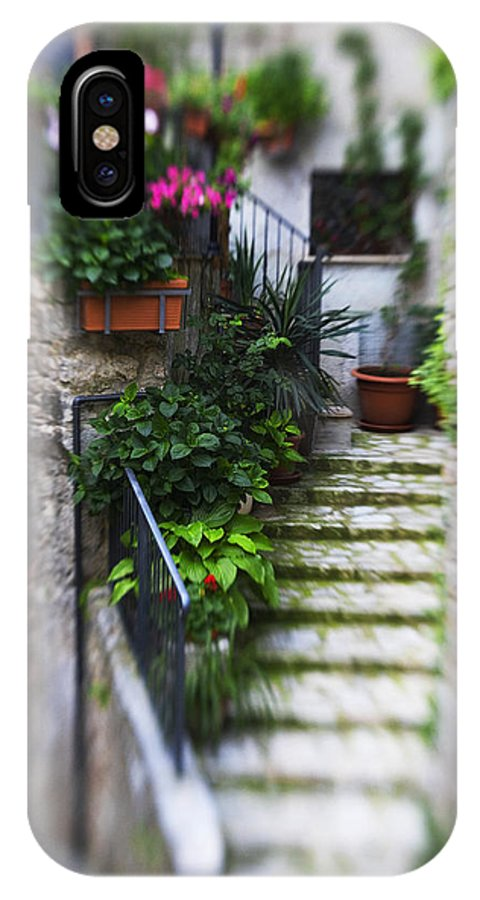 Italy IPhone X Case featuring the photograph Archway And Stairs by Marilyn Hunt