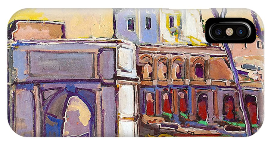 Rome IPhone Case featuring the painting Arco Di Romano by Kurt Hausmann