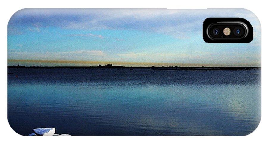 Digital Art IPhone X Case featuring the digital art Arctic Ice by Anthony Jones