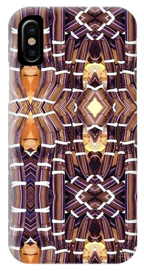 Abstract IPhone X Case featuring the digital art Arctic Pipe by Ron Bissett