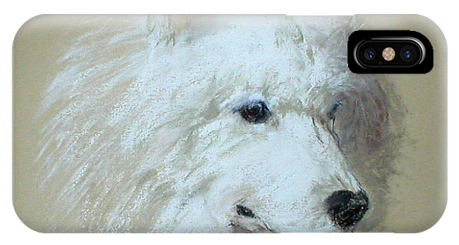 Dog IPhone Case featuring the drawing Arctic Serenity by Cori Solomon