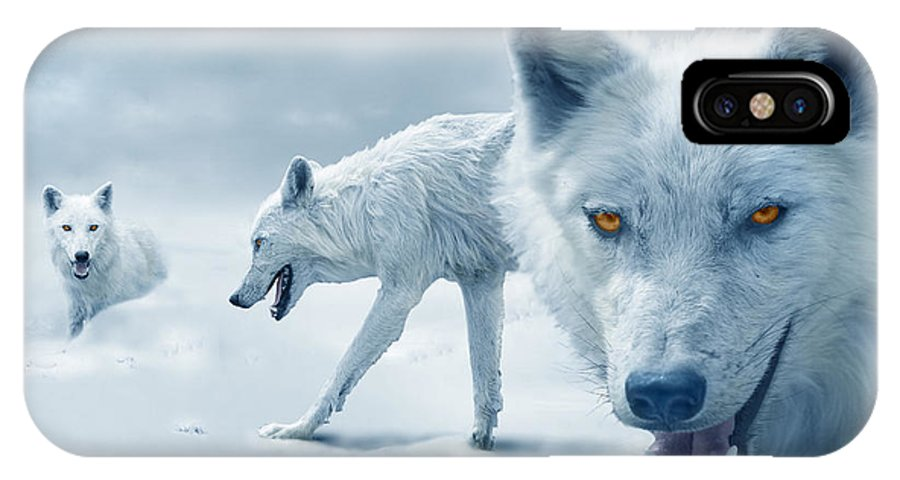 Arctic IPhone X Case featuring the photograph Arctic Wolves by Mal Bray