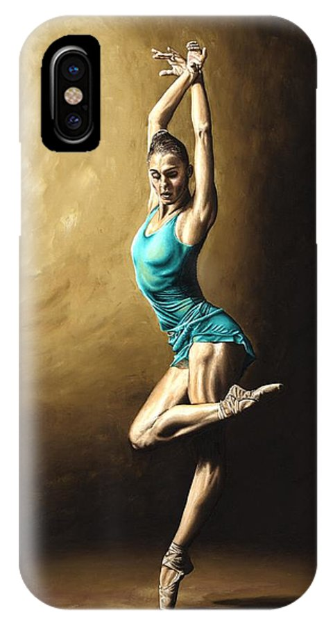 Dance IPhone X Case featuring the painting Ardent Dancer by Richard Young
