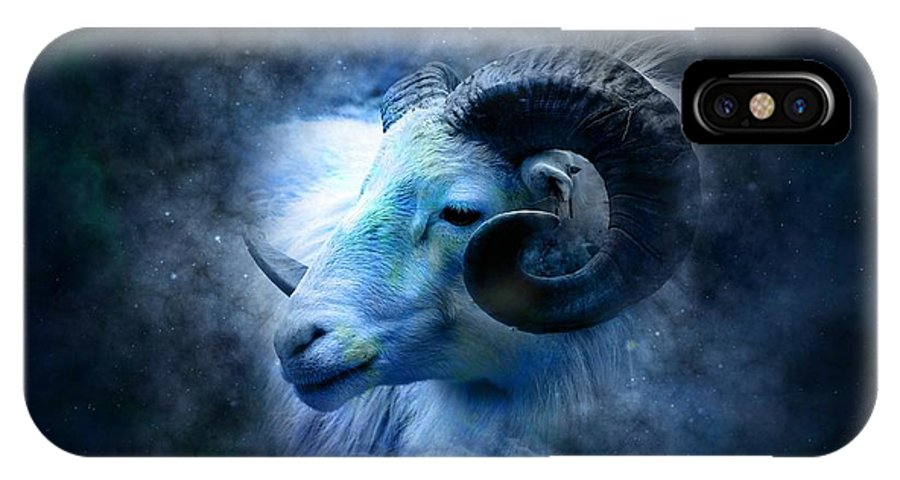 Witchcraft IPhone X Case featuring the digital art Aries by Frederick Holiday
