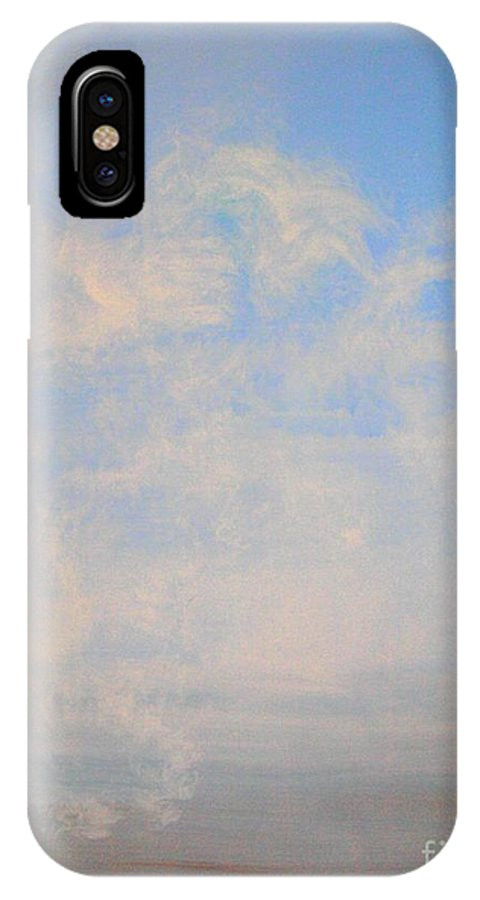 Acrylic IPhone X Case featuring the painting Arising Consciousness by Suzie Lane