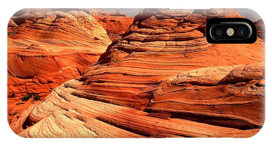 Coyote Buttes IPhone X Case featuring the photograph Arizona Desert Landscape by Adam Jewell