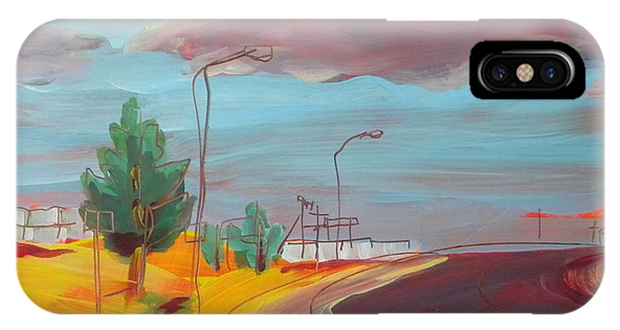 Arizona IPhone X Case featuring the painting Arizona Highway 1 by Pam Van Londen