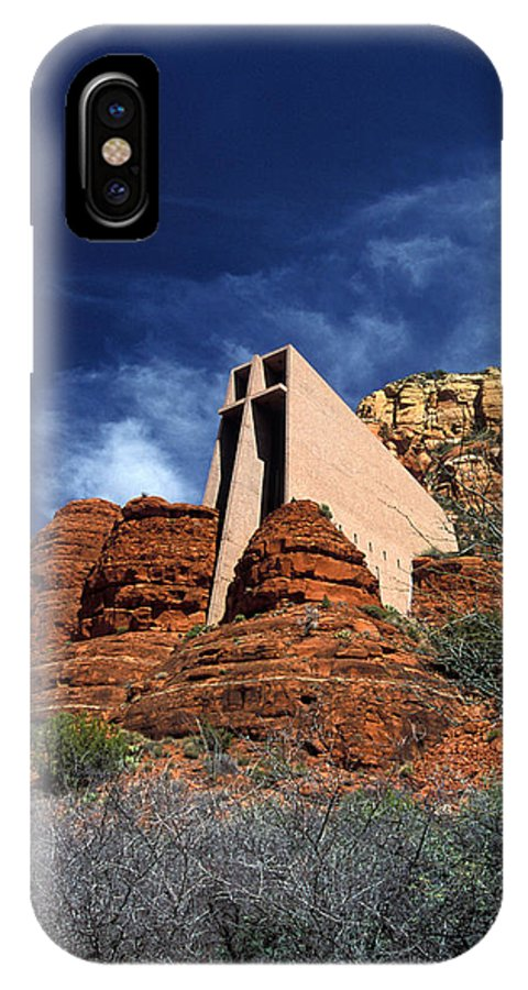 Vertical IPhone X Case featuring the photograph Arizona, Sedona Chapel Of The Holy Cross by American School