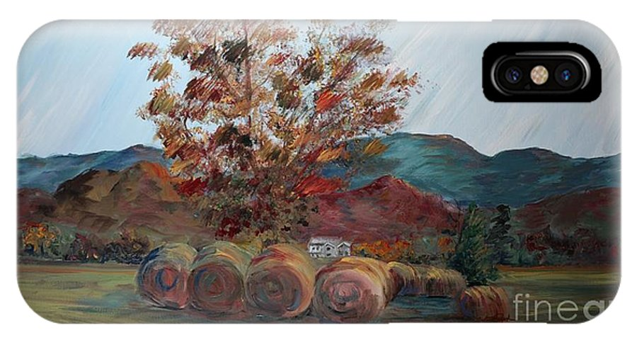 Autumn IPhone X Case featuring the painting Arkansas Autumn by Nadine Rippelmeyer