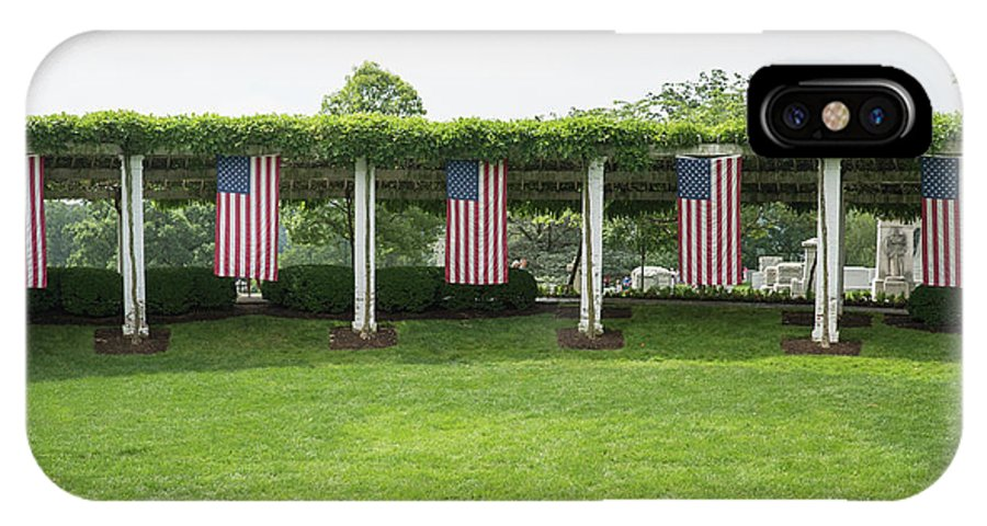 IPhone X Case featuring the photograph Arlington Flags by Jared Windler