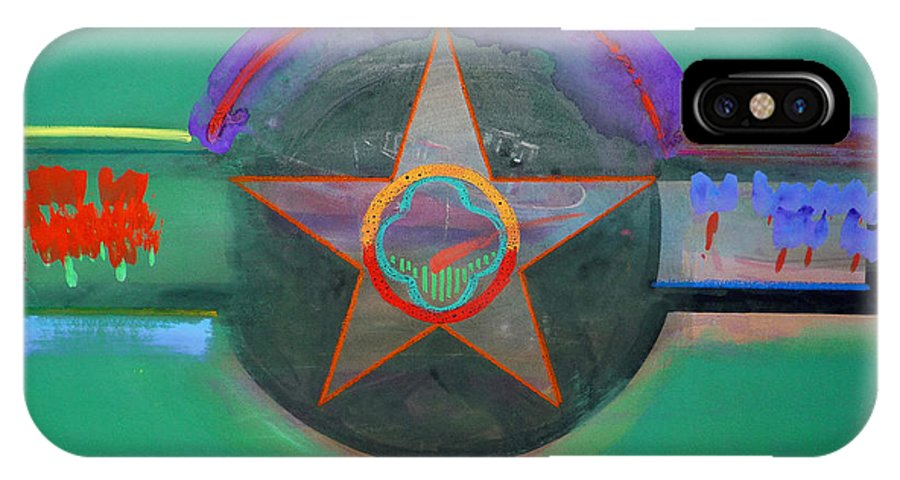Star IPhone X Case featuring the painting Arlington Green by Charles Stuart