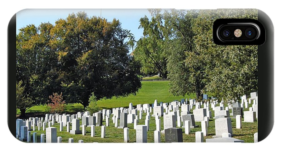 Arlington National Cemetary IPhone X Case featuring the photograph Arlington National Cemetery by Anthony Schafer