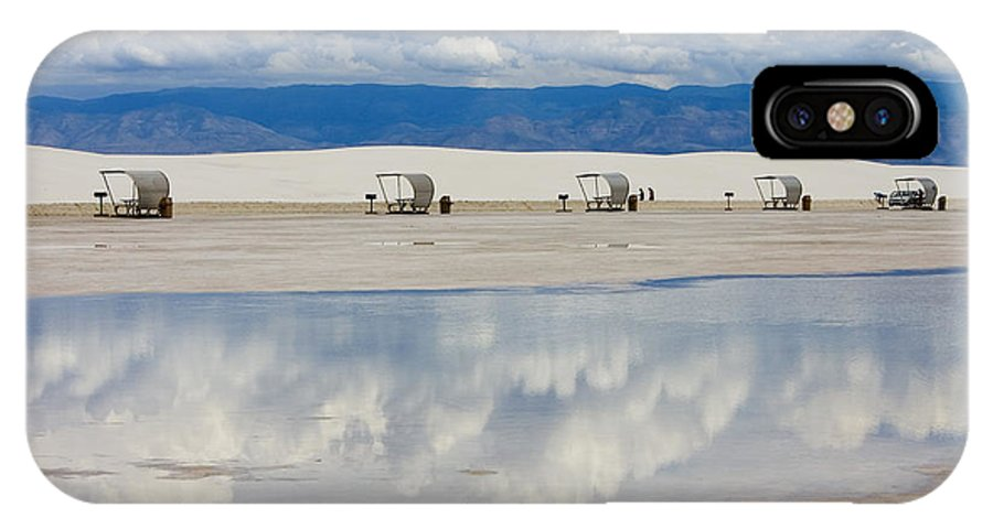 New Mexico IPhone X Case featuring the photograph Armageddon Picnic by Skip Hunt