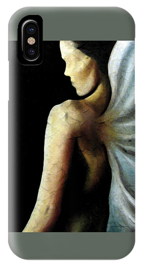 Angel IPhone X Case featuring the painting Armaita Angel Of Truth Wisdom And Goodness by Elizabeth Lisy Figueroa