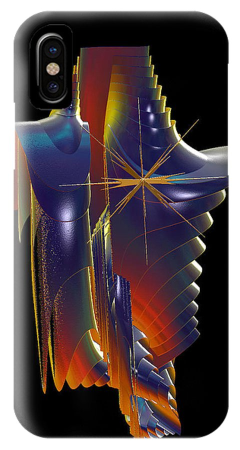 IPhone X / XS Case featuring the digital art Armure by Mireille LABORIE