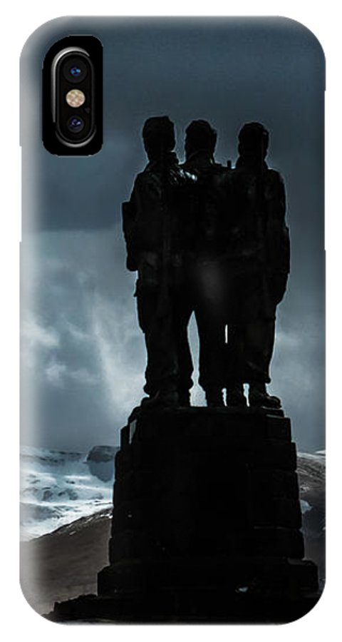 Commando Monument IPhone X Case featuring the photograph Army Commando Memorial by Joy Newbould