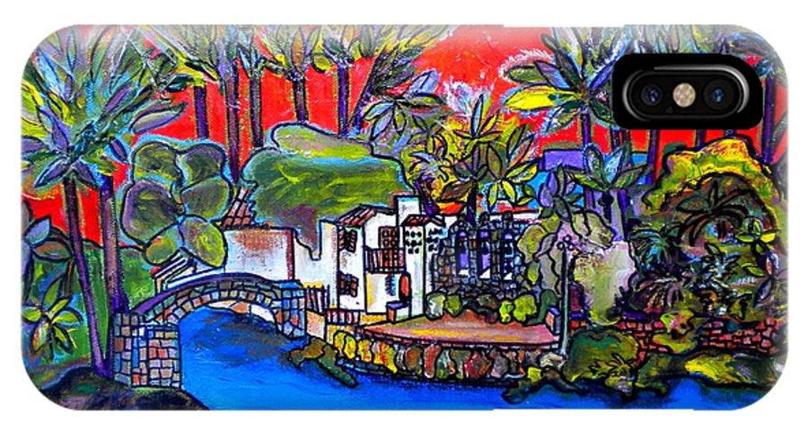 San Antonio IPhone X Case featuring the painting Arneson Theater II by Patti Schermerhorn