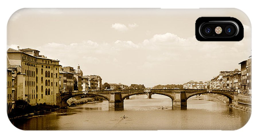 Italy IPhone Case featuring the photograph Arno River Florence by Marilyn Hunt